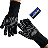 1 Pair (2 Gloves) Gloves Legend Oven Gloves Heat Resistant Grill BBQ Barbecue cooking Aramid gloves with Extra-long cuff