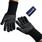 1 Pair (2 Gloves) Gloves Legend Oven Gloves Heat Resistant Grill BBQ Barbecue cooking gloves with Extra-long cuff