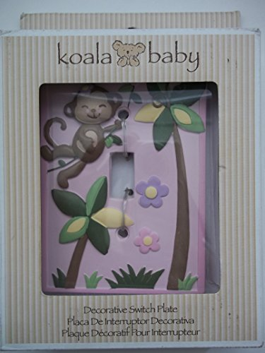 Koala Baby Girl Monkey Switch Plate Cover - 1