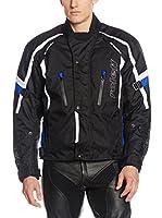 Roleff Racewear Chaqueta de Moto Mesh Jacke Ancona Ro 15041 (Negro / Azul)