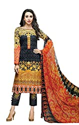 Lebaas Cotton Embroidered Salwar Suit Dupatta Material (Un-stitched) - With Discount and Sale Offer)