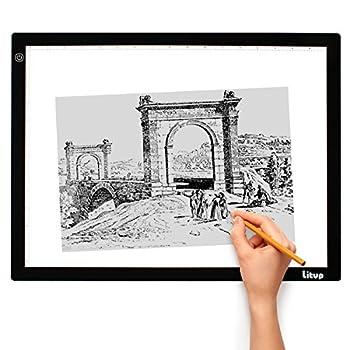 Litup A3 Light Box L18.86×W14.21 Inch Light Pad Light Table Drawing Light Board for Artcraft Tracing Animation Stencil-LP3-USB(A3-USB)