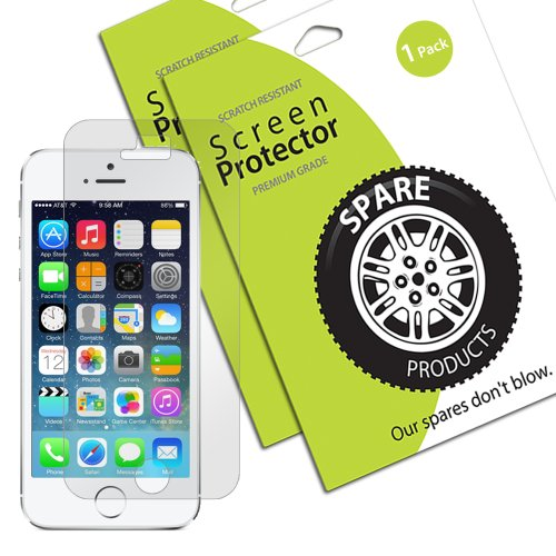 Spare Products Screen Protector Film For Iphone 5 At&T Verizon Sprint - (1 Pack) Clear Newest Model