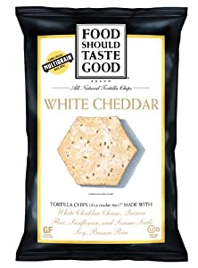 Food Should Taste Good Chips, White Cheddar, 5.5 Ounce (Pack of 12)