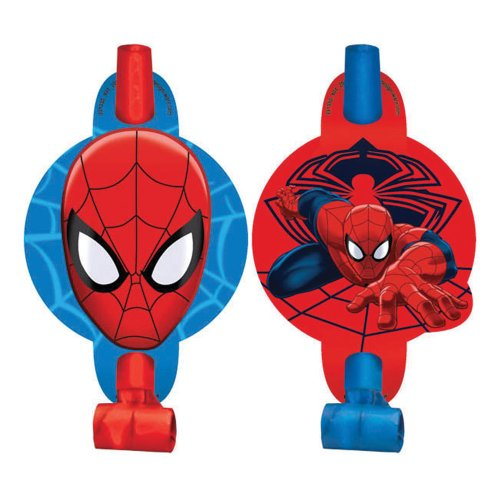 Spiderman Blowouts - Birthday and Theme Party Supplies - 8 Per Pack
