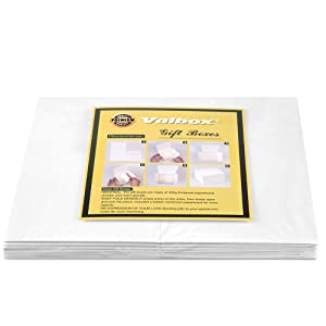 ValBox Premium Gift Boxes 12 Pack 8 x 8 x 4 Whie Paper Gift Boxes with Lids for Gifts, Crafting Cupcake Boxes, Easy Assemble Boxes (Color: White, Tamaño: 8x8x4)