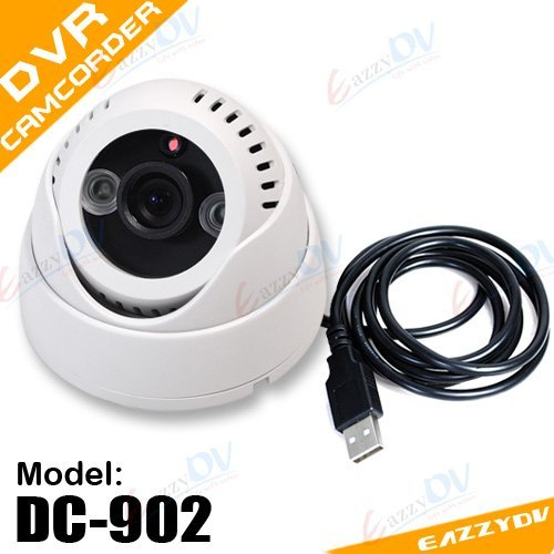 Dc-902 Eazzydv Indoor Cctv Security Dvr Dome Camera Camcorder Motion Detection Day/Night 3Rd Led 3.6Mm Len