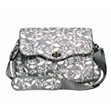 JJ Cole Cadence Diaper Bag, Gray with Cream Pattern