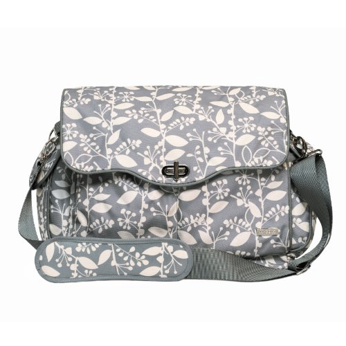 JJ Cole Cadence Diaper Bag, Gray with Cream Pattern (Discontinued by Manufacturer)