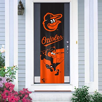 MLB Baltimore Orioles Team Color and Logo Door Banner