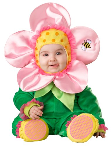 InCharacter Baby Blossom Costume, Green/Pink/Yellow, Small