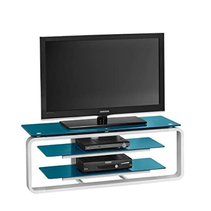 Colorconcept TV Stand Finish: High Gloss White / Petrol