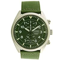 Seiko Men's SNN239P1 Chronograph Military Green Strap Watch by Seiko
