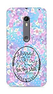 AMEZ Blessed are the curious Back Cover For Motorola Moto X Style