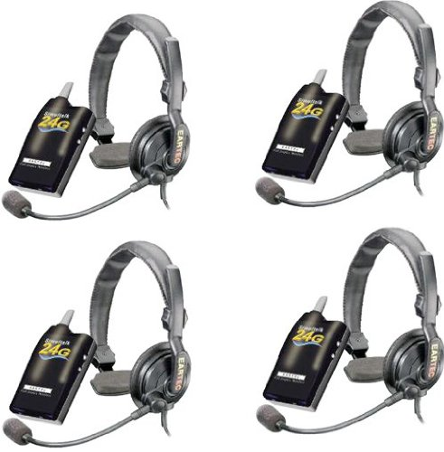 Simultalk 24G Wireless System For Restaurants And Hospitality Enterprises, With 4 Slimline Headsets