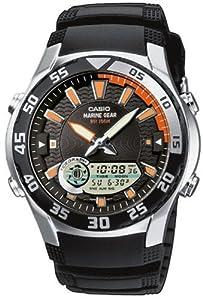 CASIO Collection AMW-710-1AVEF - Reloj de caballero de cuarzo, correa de resina color negro (con cronómetro, alarma, luz) marca Casio