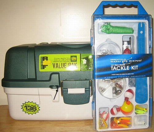 Plano Tackle Box - 3 Trays - 273 Piece Tackle Kit Included!