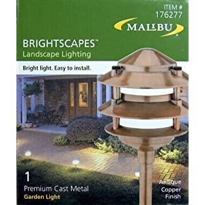 Click to buy Malibu Outdoor Lighting: Malibu Brightscapes Premium Cast Metal Garden Light, Antique Copper Finish from Amazon!