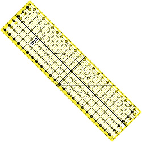 "Quilting Bee ""EZ Eyes"" 6.5"" x 24.5"" Premium Quilting Ruler (QR624R)"