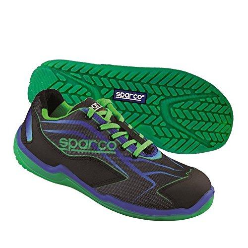 scarpa-antinfortunistica-sparco-mod-touring-low-nascar-s1p-src-nero-verde-tg-42