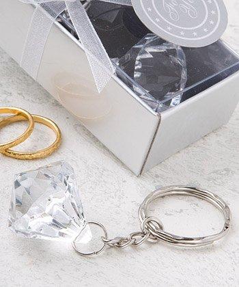 Diamond Design Keychain Cheap Wedding Favors