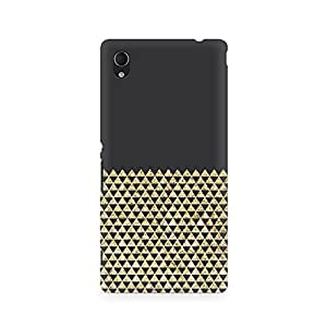 Ebby Golden Honeycomb Premium Printed Case For Sony Xperia M4