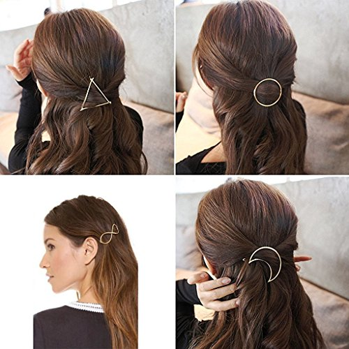 adecco-llc-7pcs-minimalist-dainty-gold-silver-hollow-geometric-metal-hairpin-hair-clip-clampscircle-