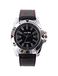 Turbo Youth Analogue Black Dial Men's Watch - R105-003S