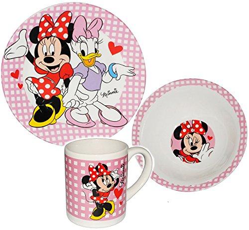 3-tlg-Geschirrset-Disney-Minnie-Mouse-Daisy-Porzellan-Keramik-Trinktasse-Teller-Mslischale-Kindergeschirr-Frhstcksset-fr-Kinder-Mdchen-Egeschirr-Frhstcksgeschirr-Geschirr-Playhouse-Maus-Herzen-Suppent