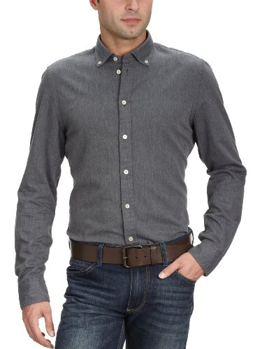 Marc O'Polo Men's 229 1096 42344 Casual Shirt Grey (989 Dark Grey) 56