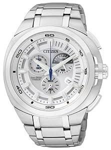 Citizen AT2021-54A - Reloj cronógrafo de cuarzo para hombre, correa de titanio multicolor