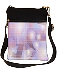 Snoogg Abstract Pattern Design Cross Body Tote Bag / Shoulder Sling Carry Bag