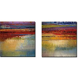 City Colors I & II by Selina Rodriguez 2-pc Premium Gallery-Wrapped Canvas Giclee Art Set (Ready to Hang)