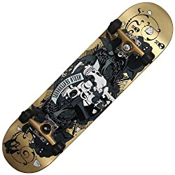 Oxelo Mid-Tattoo Skateboard (Gold)