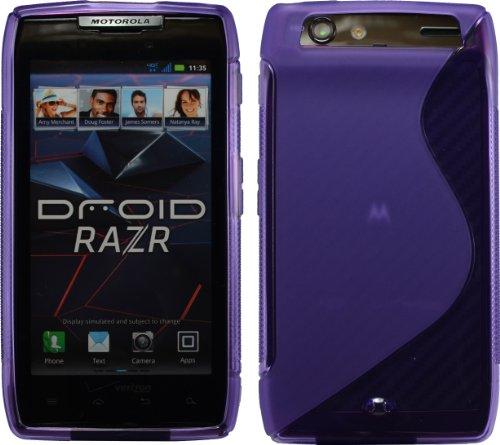 Purple Sline Tpu Case For Motorola Droid Razr Maxx Verizon Xt912