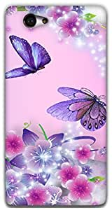 The Racoon Lean Fairies and Butterflies hard plastic printed back case / cover for Sony Xperia M2
