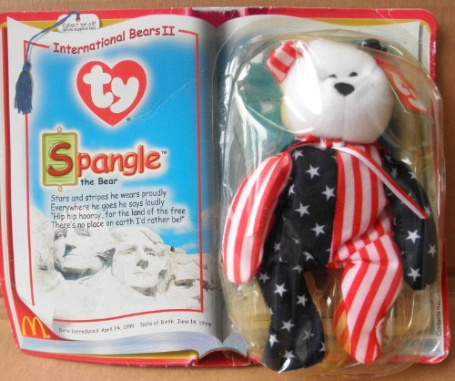 TY Teenie Beanie Babies Spangle the Bear Stuffed Animal Plush Toy