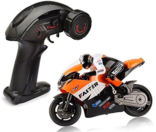Top Race 4 Channel RC Remote Control Motorcycle Goes on 2 Wheels with Built in Gyroscope, 1:10 Scale (Radio Controlled Motorcycle compare prices)