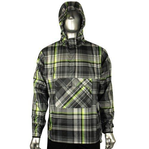 Mens Nike Plaid Wind Jammer Jacket Rain Retro Running Training Coat Size S M