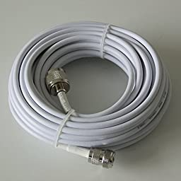 Phonetone 15 meters 50-3 Coaxial Cable RG58 Extension Cable N female to n male end
