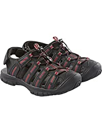 Khombu® Kids' Sandal-Grey & Red -12
