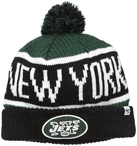 nfl-new-york-jets-47-calgary-cuff-knit-beanie-with-pom-dark-green-one-size
