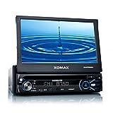 """XOMAX XM-DTSB904 Autoradio MP3 Moniceiver + 18 cm / 7"""" LCD TFT Touchscreen + Bluetooth Freisprechfunktion und Musikwiedergabe (A2DP) f�r Smartphone, MP3 Player etc. + codefree DVD / CD Player, USB Anschluss, SD Slot f�r Audio, Video, MP3, MPEG4, WMA, AVI, JPEG etc. + Farbe der Beleuchtung einstellbar ROT, BLAU oder PINK - Single DIN (DIN 1) Standard Einbaugr��e + inkl. Fernbedienungvon """"XOMAX"""""""