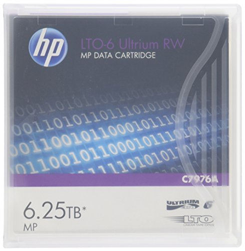 HP HEWC7976A LTO-6 Ultrium 6.25TB MP RW Data Cartridge