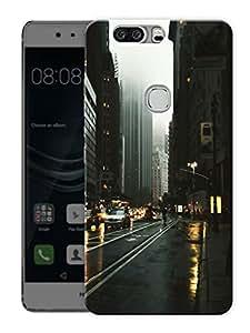 "Rainy CityPrinted Designer Mobile Back Cover For ""Huawei Honor V8"" (3D, Matte, Premium Quality Snap On Case)"