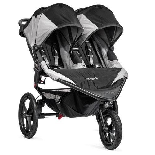 Baby Jogger Summit X3 Double Stroller, Black/Gray front-1036626