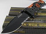 TAC-FORCE Spring Assisted Opening EMT EMS ORANGE Rescue Folding Pocket Knife