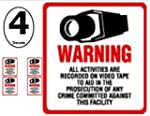 SECURITY DECAL - 4 Pack #204 Commerci...