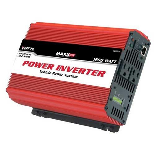 Vector VEC053D 1,200 Watt D/C To A/C Power Inverter With Power Level Meter