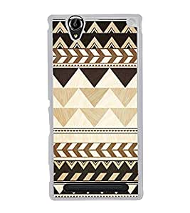 Brown Pattern 2D Hard Polycarbonate Designer Back Case Cover for Sony Xperia T2 Ultra :: Sony Xperia T2 Ultra Dual SIM D5322 :: Sony Xperia T2 Ultra XM50h